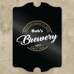 Basement Brewery Personalized Pub Sign