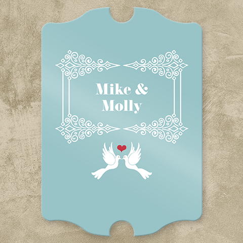 Palatial Lovey Dovey Personalized Pub Sign