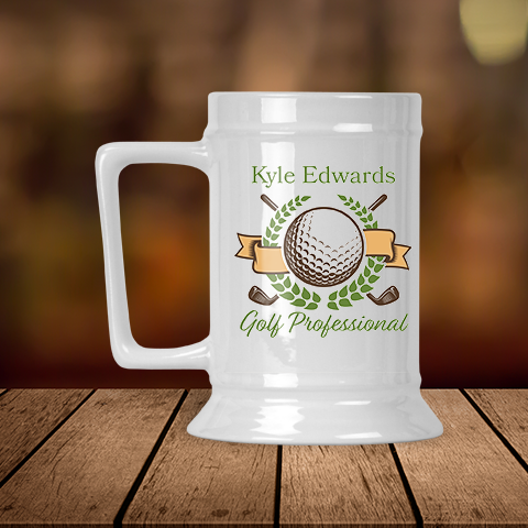 Golf Professional Personalized Beer Stein