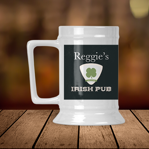 Irish Pub Escutcheon Personalized Beer Stein