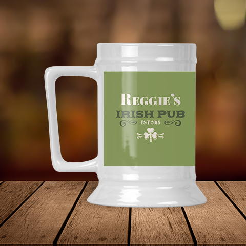 Established Irish Pub Personalized  Beer Stein