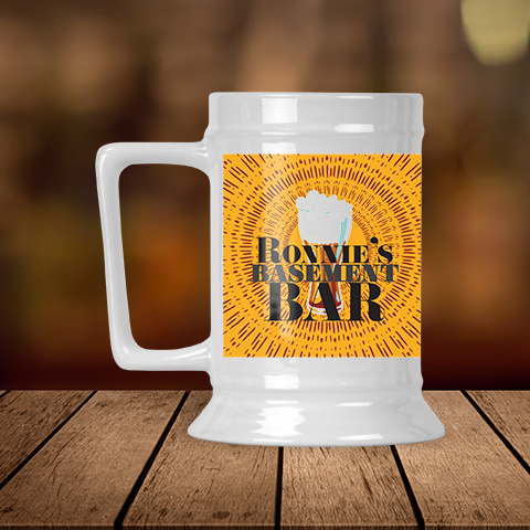 Personalized Basement Bar Beer Stein