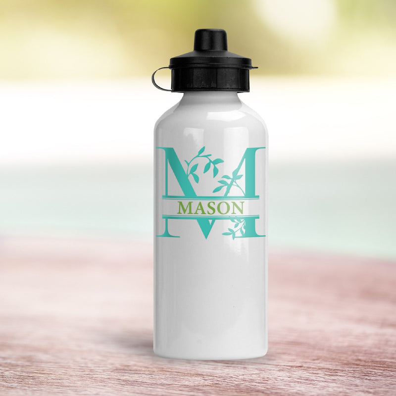 Savvy Custom Gifts Vine Leaf Monogrammed Water Bottle