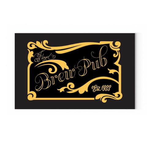 SavvyGifts Personalized Brew Pub Canvas
