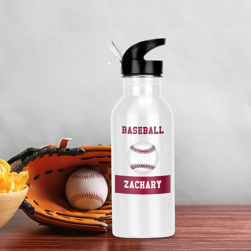 Savvy Custom Gifts Personalized Baseball Fan Water Bottle