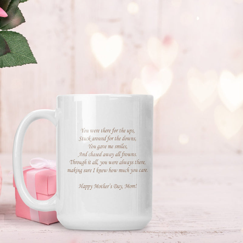 "Savvy Custom Gifts ""Mom is Always There"" Personalized 15 oz. Coffee Mug"
