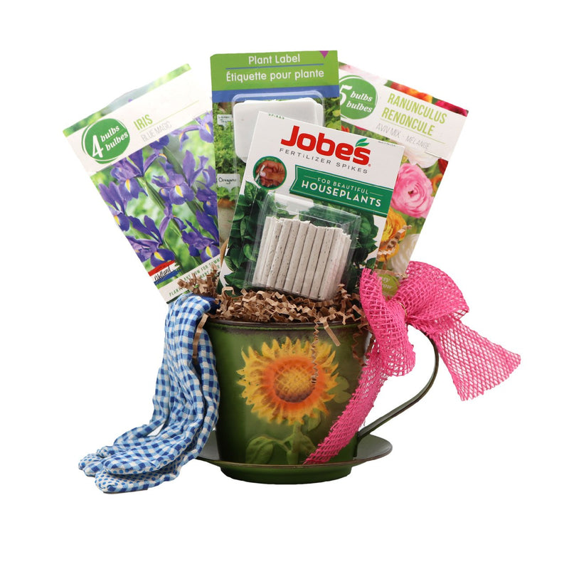 Savvy Custom Gifts Teacup Garden Lovers' Gift Set