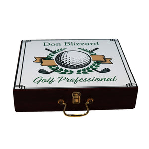 Personalized Rosewood Finished Executive Golf Set