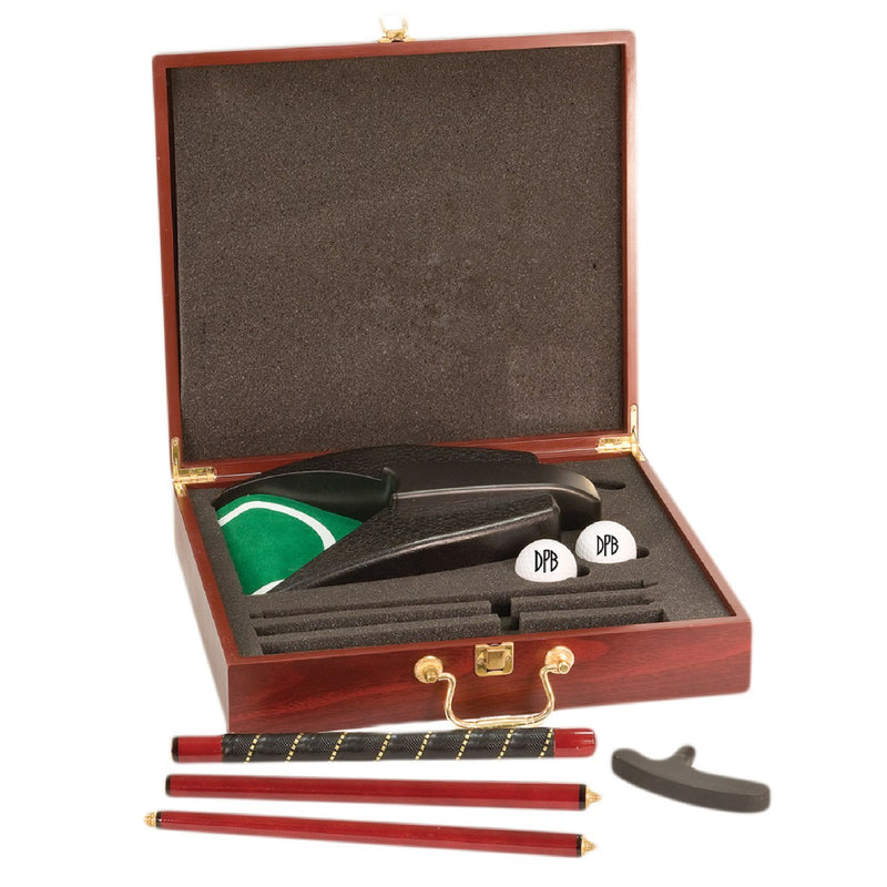 Personalized Rosewood Finished Executive Golf Gift Set