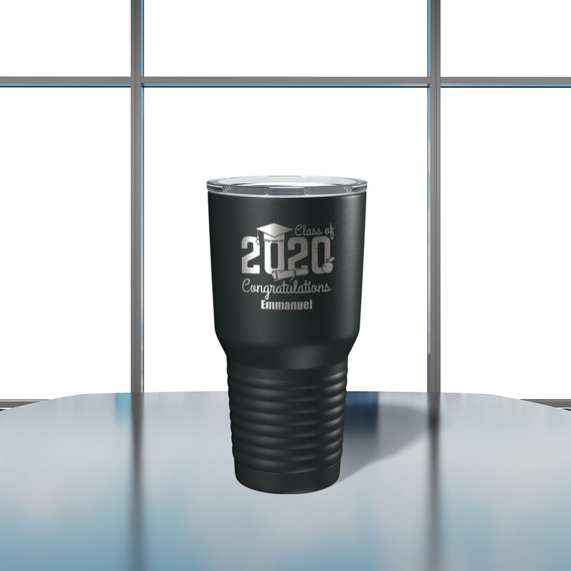 Savvy Custom Gifts Class Of 2020 Graduation Personalized 30 Oz Black Vacuum Insulated Tumbler