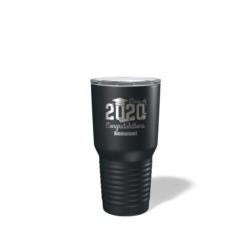 Savvy Custom Gifts Class Of 2018 Graduation Personalized 30 Oz Black Vacuum Insulated Tumbler