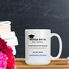 Savvy Custom Gifts Congratulation On Your Graduation Personalized 15 Oz Mug
