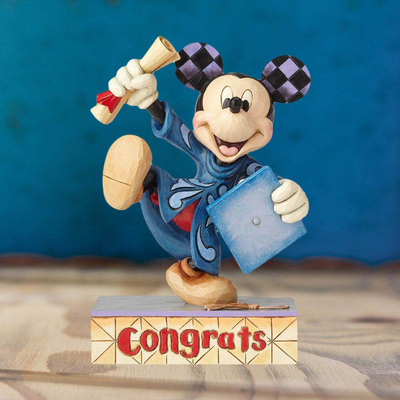 Jim Shore Personalized Graduation Mickey