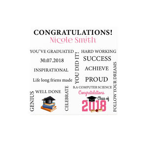 Savvy Custom Gifts Congratulations On Your Graduation Personalized Canvas Print