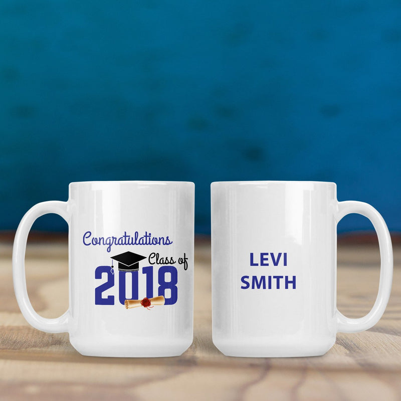 Savvy Custom Gifts Class Of 2018 Graduation Personalized 15 Oz Mug