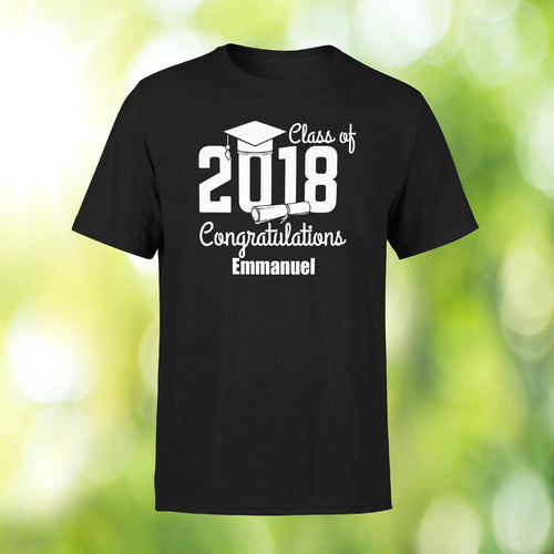 Savvy Custom Gifts Class Of 2018 Personalized Graduation T-shirt