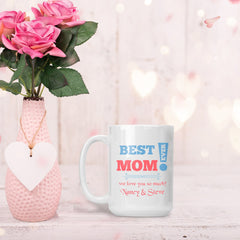 Mom We Love You So Much Personalized 15 Oz Mug