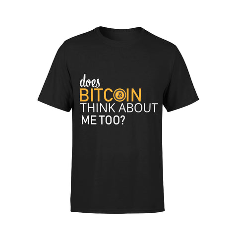 """Jeans and Shovels"" Does Bitcoin Think About Me Too T-shirt"