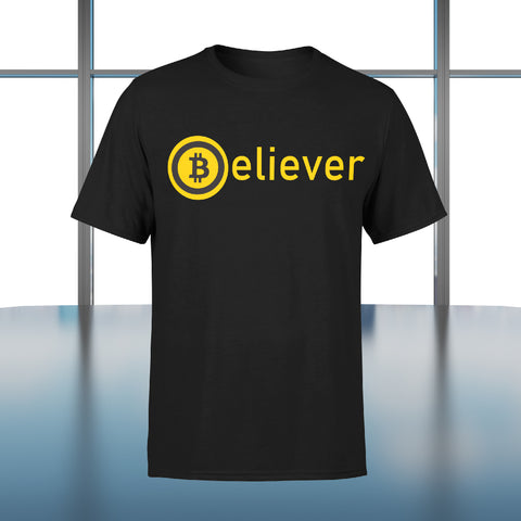 """Jeans and Shovels"" Believer Bitcoin T-shirt"