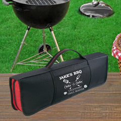 Personalized Chillin' and Grillin' Master Barbeque Kit