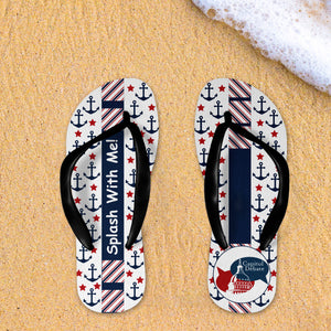 Splash With Me Capitol Debate Flip Flops