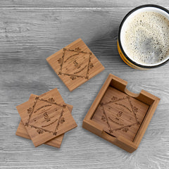 Personalized Seasoned With Love Coaster Set