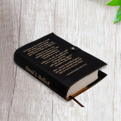 Personalized Serenity Prayer Leatherette Bible/Book Cover