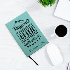 Different Roads Often Lead to Beautiful Destinations Personalized Leatherette Journal