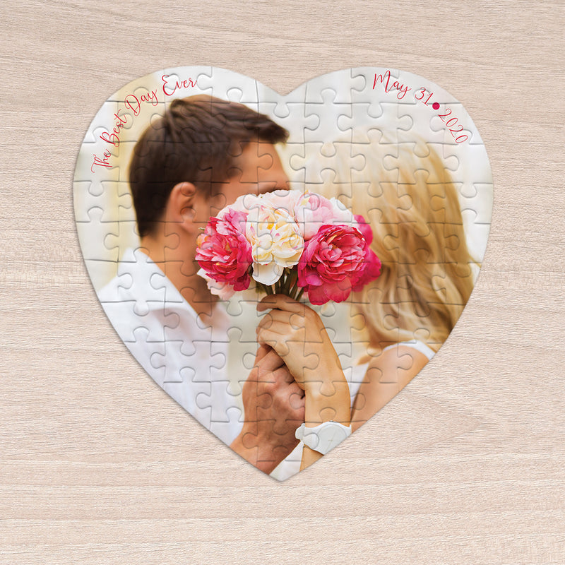 Best Day Ever Heart Shaped Gift Puzzle