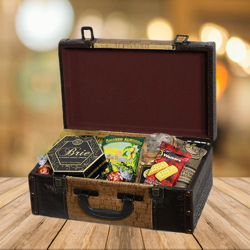 Gourmet Snack Suitcase Gift Basket