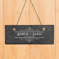 Together We are Home Personalized Slate Hanger Decor