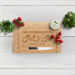 Heart and Home Personalized Bamboo Charcuterie Board
