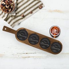 This One's For You Personalized  Acacia Wood & Slate Serving Board