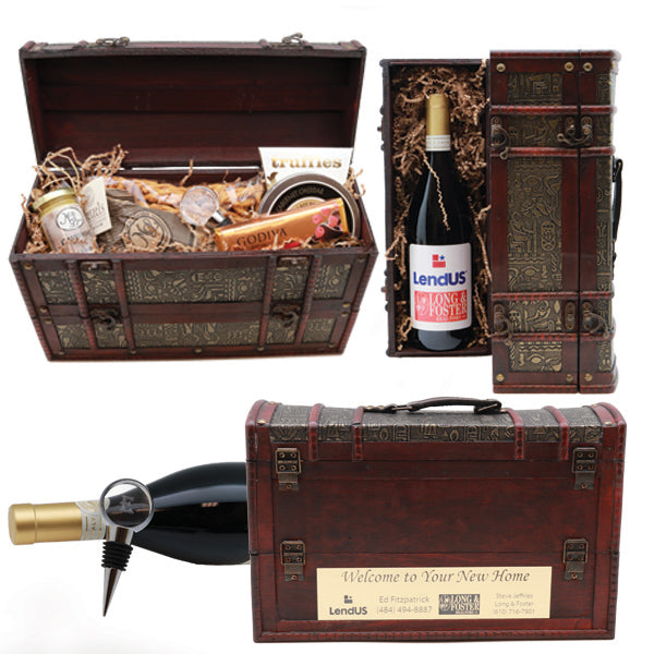 Welcome to Your New Home Egyptian Wine & Cheese Gift Set