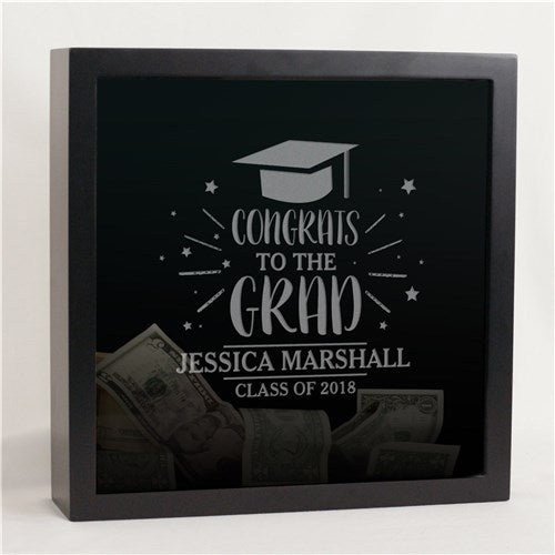 Personalized Congrats Grad Shadow Box