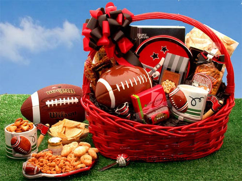 Football Fanatic Sports Gift Basket - Large Red