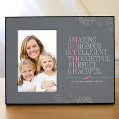 Mother Printed Frame - Gray