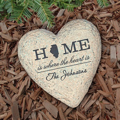 Personalized Home State Garden Stone 8.5''