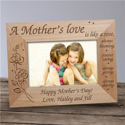 "A Mother's Love Engraved Frame - 4"" x 6"""