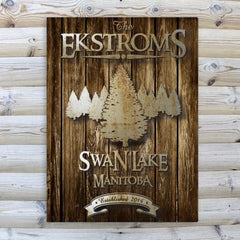 Rustic Wood Cabin Canvas Prints