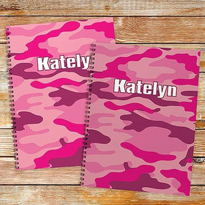 Personalized Camoflage Notebook set