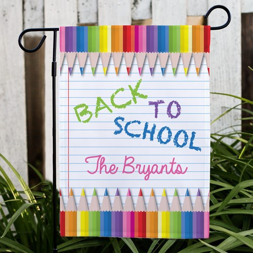 Back to School Garden Flag