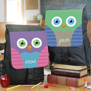 Personalized Owl School Bag