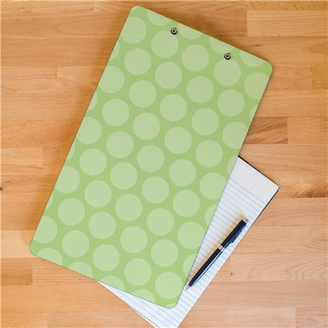Personalized Flower and Polka Dot School Clipboard