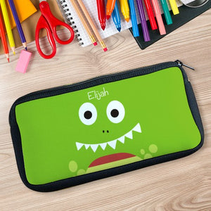 Personalized Dinosaur Zippered Pencil Case