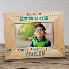Personalized First Day of School Alphabet Wood Frame