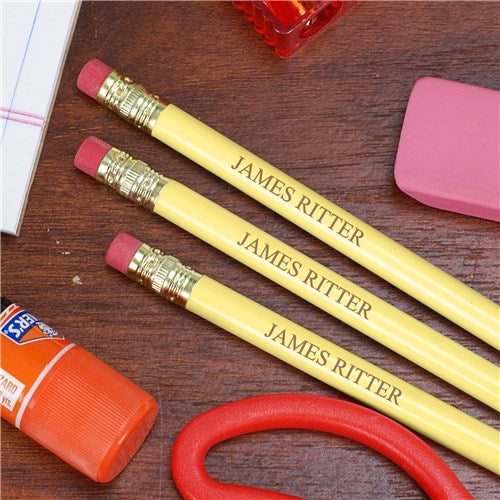 Engraved School Pencils