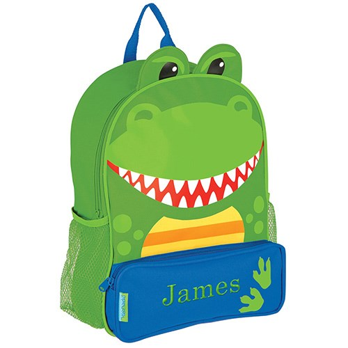 Embroidered Dinosaur Backpack