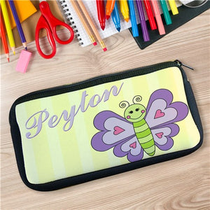Personalized Purple Butterfly Pencil Case