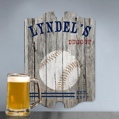Personalized Vintage Sports Man Cave Pub Sign